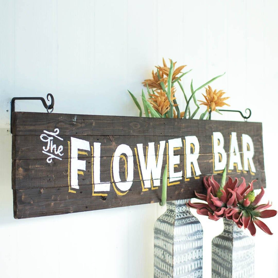 Flower Bar Wooden Sign - Cece & Me - Home and Gifts