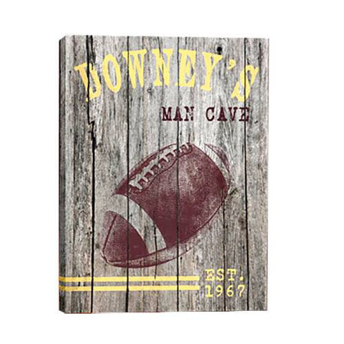 Football Personalized Man Cave Canvas - Cece & Me - Home and Gifts