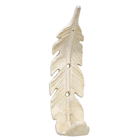 Founder Feather Wall Hook ~ White - Cece & Me - Home and Gifts