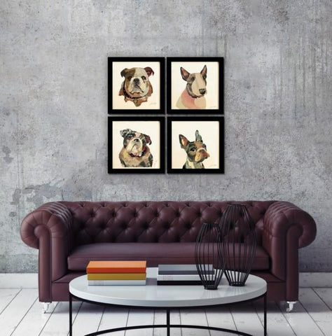 Image of English Bulldog ~ Art Collage - Cece & Me - Home and Gifts