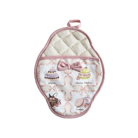 Image of French Pastries Scalloped Pot Mitt - Cece & Me - Home and Gifts