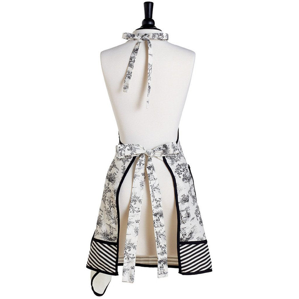French Toile Gigi Apron with Towel - Cece & Me - Home and Gifts