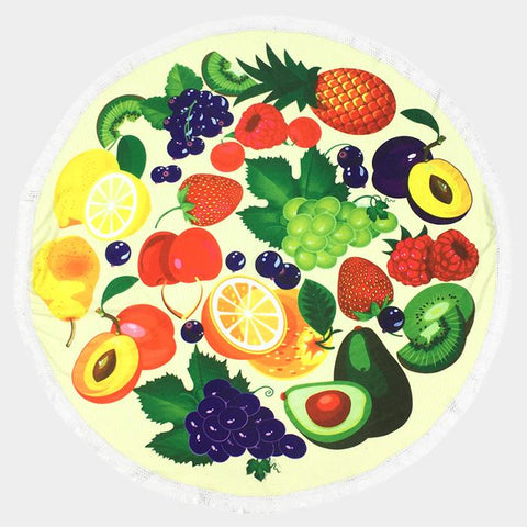 Fruit Round Beach Towel - Cece & Me - Home and Gifts