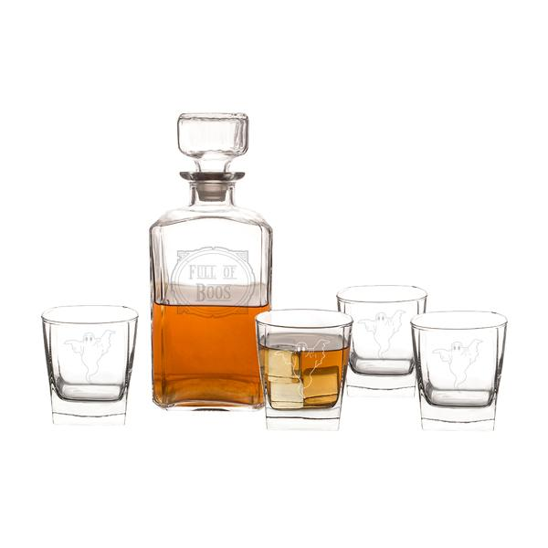 Full of Boos 5 pc. Decanter Set - Cece & Me - Home and Gifts