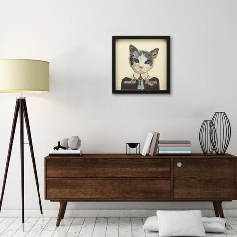 Image of Funky Cat I ~ Art Collage - Cece & Me - Home and Gifts