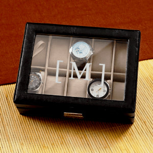 Personalized Men's Leather Watch Case - Cece & Me - Home and Gifts