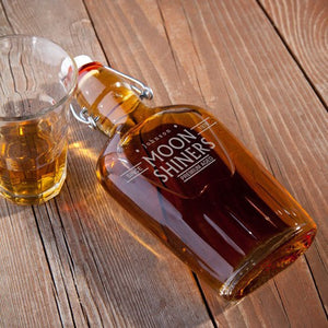 Glass Flask - Bootleggers, Moonshines or Moonshines - Cece & Me - Home and Gifts
