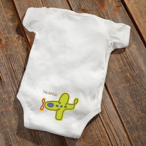 Image of Personalized Baby Botty Onesie - Airplane Design - Cece & Me - Home and Gifts