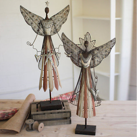 Galvanized Angel (Set of 2) - Cece & Me - Home and Gifts