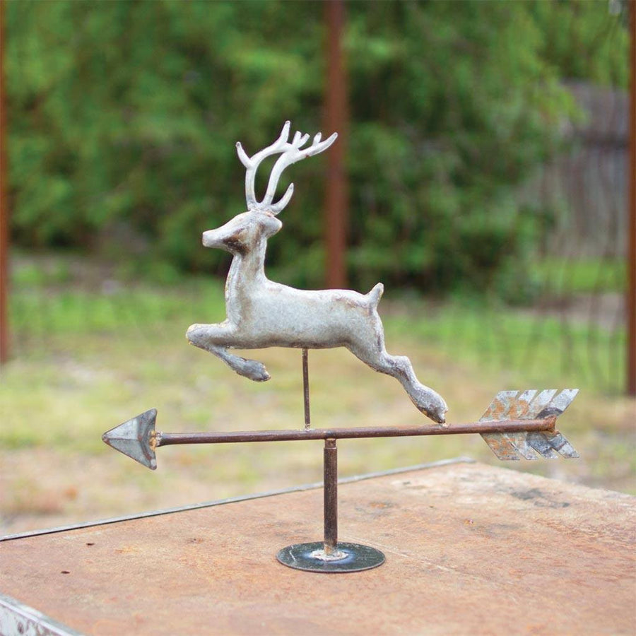 Galvanized Table Top Weathervane ~ Deer