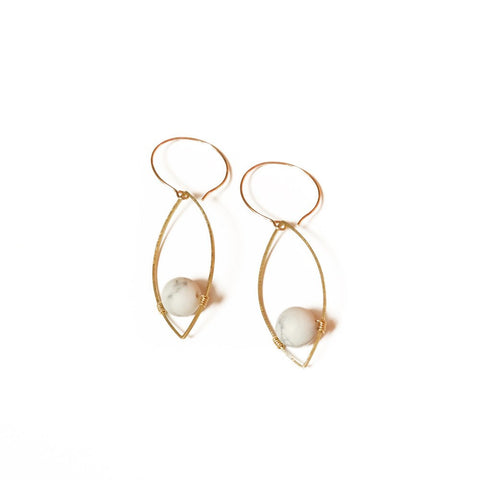Image of Georgia Earrings in Howlite - Cece & Me - Home and Gifts