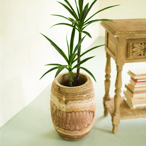 Giant Hand Carved Wooden Planter - Cece & Me - Home and Gifts