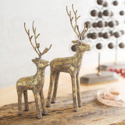 Gold Cast Iron Deer (Set of 2) - Cece & Me - Home and Gifts