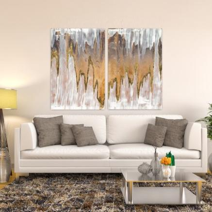 Gold Mountains II ~ Tempered Art Glass - Cece & Me - Home and Gifts