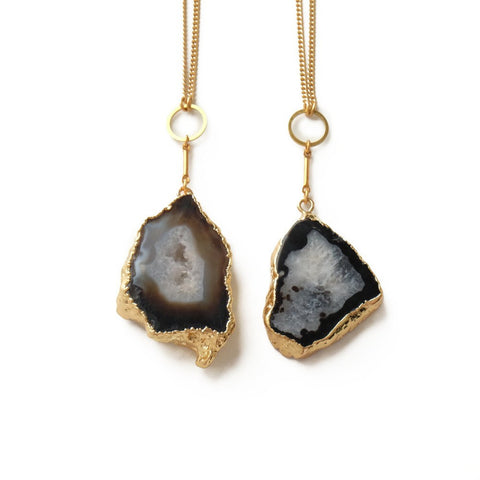 Golden Drusy Necklace in Black - Cece & Me - Home and Gifts