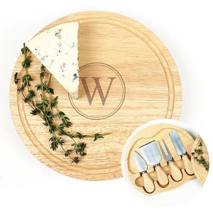 Personalized Gourmet 5pc. Cheese Board Set w/ Utensils - Cece & Me - Home and Gifts