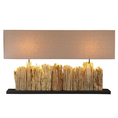 GrandeVertico Riverine Driftwood Table lamp with two socket - Cece & Me - Home and Gifts