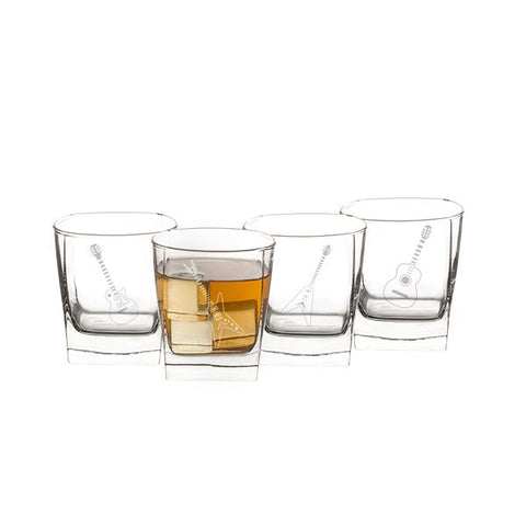 Image of Guitar Rocks Glasses (Set of 4) - Cece & Me - Home and Gifts