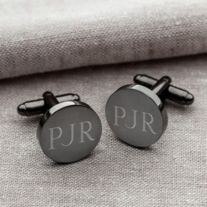 Gunmetal Round Cufflinks - Cece & Me - Home and Gifts
