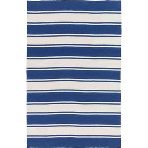 Habersham Striped Rug ~ Dark Blue & White - Cece & Me - Home and Gifts
