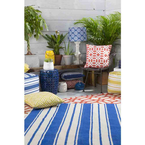 Image of Habersham Striped Rug ~ Dark Blue & White - Cece & Me - Home and Gifts