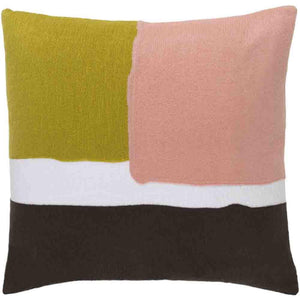 Harvey Pillow ~ Lime/Pale Pink/Dark Brown - Cece & Me - Home and Gifts