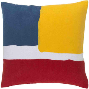 Harvey Pillow ~ Bright Red/Yellow/Dark Blue - Cece & Me - Home and Gifts