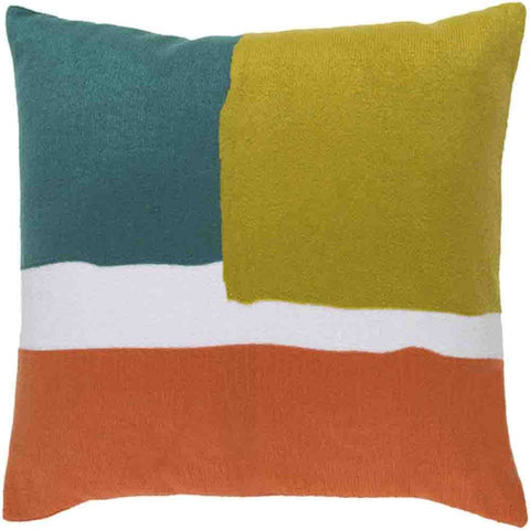 Harvey Pillow ~ Teal/ Lime/Bright Orange - Cece & Me - Home and Gifts