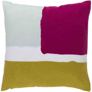 Harvey Pillow ~ Light Gray/Lime/Bright Pink - Cece & Me - Home and Gifts