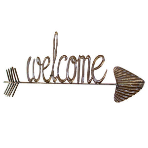 Hand Hammered Welcome Sign with Arrow - Cece & Me - Home and Gifts