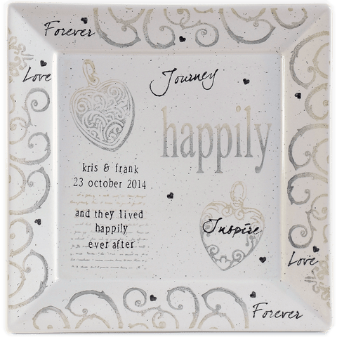 Personalized Happily Ever After Wedding Platter - Cece & Me - Home and Gifts