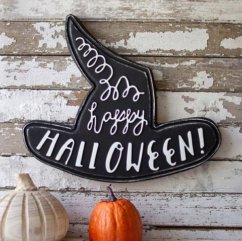 Happy Halloween Metal Witch Hat - Cece & Me - Home and Gifts