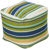 Harper Outdoor Safe Pouf ~ Grass Green