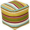 Harper Outdoor Safe Pouf ~ Saffron