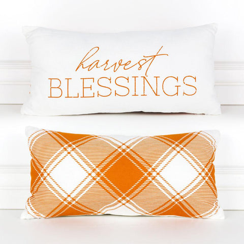 Harvest Blessings ~ Reversible Plaid - Cece & Me - Home and Gifts