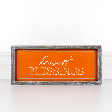Harvest Blessings Wood-Framed Sign - Cece & Me - Home and Gifts
