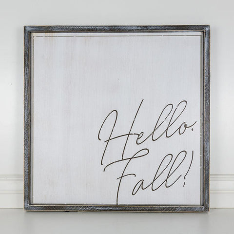 Image of Hello Fall Reversible Wood-framed Sign - Cece & Me - Home and Gifts