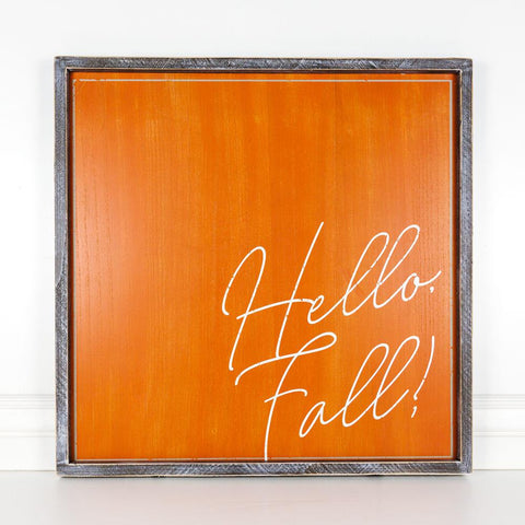 Hello Fall Reversible Wood-framed Sign - Cece & Me - Home and Gifts