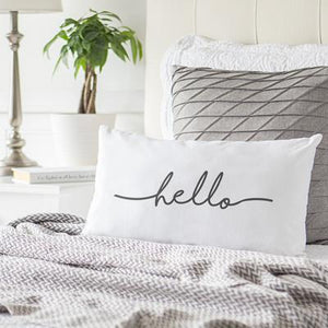 Hello Lumbar Pillow - Cece & Me - Home and Gifts