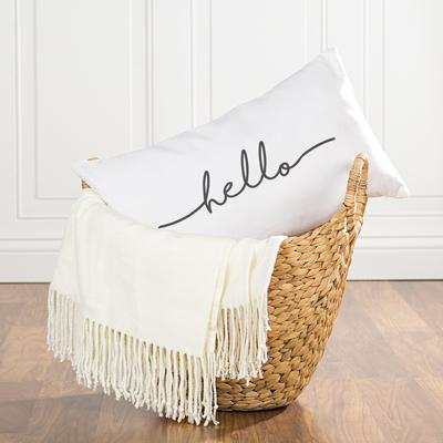 Image of Hello Lumbar Pillow - Cece & Me - Home and Gifts