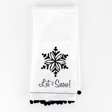 Holiday Dishtowel ~ Snow - Cece & Me - Home and Gifts