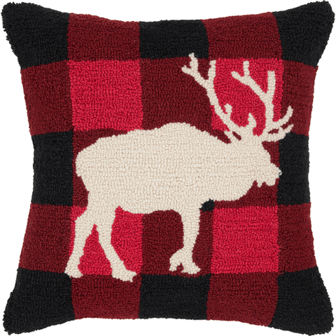 Image of Holiday Elk Pillow - Cece & Me - Home and Gifts