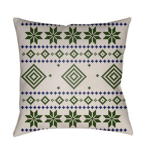 Holiday Fair Isle Plaid Pillow ~ Green - Cece & Me - Home and Gifts