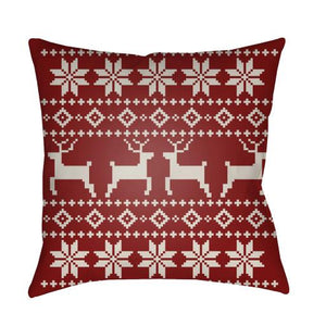 Holiday Fair Isle Plaid Pillow ~ Red - Cece & Me - Home and Gifts