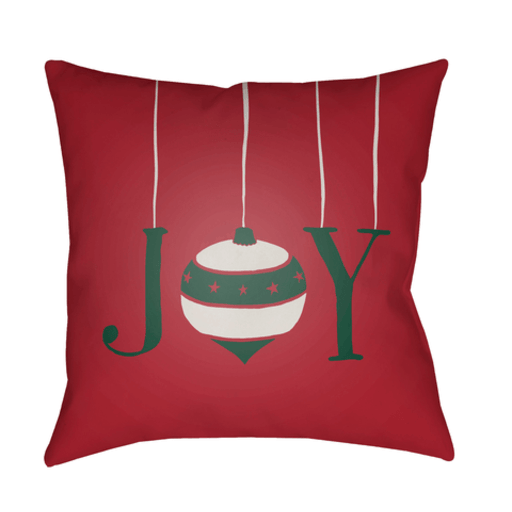 Holiday Joy Pillow ~ Red