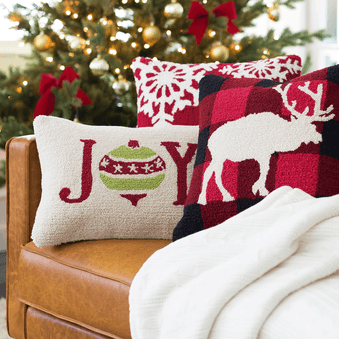 Holiday Elk Pillow - Cece & Me - Home and Gifts