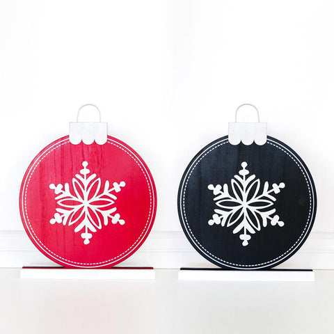 Holiday Reversible Wood Ornament - Cece & Me - Home and Gifts