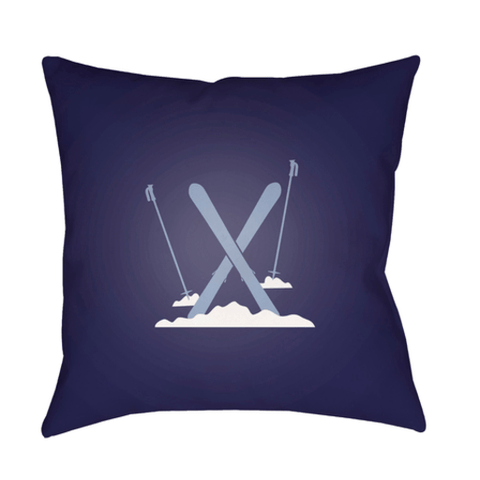 Holiday Ski Pillow ~ Navy - Cece & Me - Home and Gifts