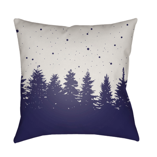 Holiday Trees Pillow ~ Navy