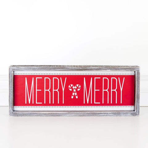 Holiday Wood Brick ~ Merry Merry - Cece & Me - Home and Gifts